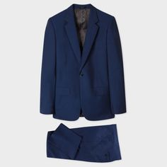 Men's Classic-Fit Blue Wool-Mohair 'A Suit To Travel In'