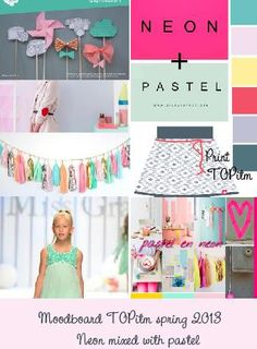 Neon with Pastel new trend in kids fashion summer 2013