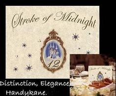 Wedding Cinderella Place Table NAME Number cards favors QTY 10 b via Etsy
