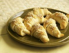 Hunger Games District 11's crescent moon roll with sesame seeds