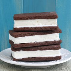 Homemade ice cream sandwiches. I've always wanted to try making these.