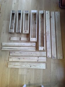 Maceteros a partir de dos palets | Bricolaje Diy Garden Projects, Garden Crafts, Projects To Try, Ideas Terraza, Future House, Decoration, Woodworking, Home Decor, Vertical Bar