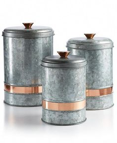 Coffee Canisters With Airtight Lids With Scoop #coffeeshops #CoffeeCanister Copper Kitchen Accents, Copper Kitchen Accessories, Copper Kitchen Decor, Copper Decor, Copper Accents, Home Decor Kitchen, Home Decor Accessories, Kitchen Modern, Kitchen Design
