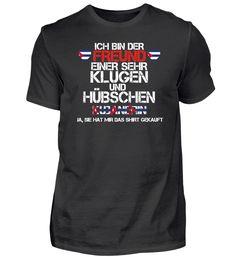 FREUND EINER KLUGEN GESCHENK Kubanerin T-Shirt T Shirt Designs, Basic Shirts, Mens Tops, Form, Material, Women, Link, Fashion, Funny Shirts