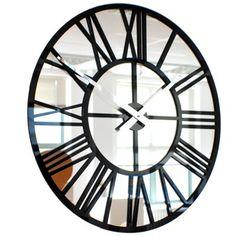 Modern Vintage Mirror Skeleton Wall Clock US Wall Clocks Uk, Mirror Wall Clock, Contemporary Clocks, Modern Clock, Skeleton Wall Clock, Clocks For Sale, How To Make Wall Clock, Vintage Mirrors, Small Mirrors