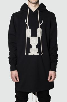 Rick Owens Drkshdw | Embroidered hooded sweater