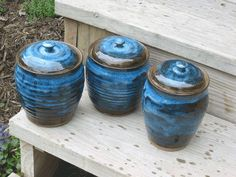 Handmade Pottery Canister Sets | Canister Set Handmade Pottery Canisters by MalloryvillePottery, $95.00
