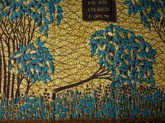 African+Cotton+Wax+Print+Fabrics+Blues+Fallen+Tree+by+kitenge2012,+£4.99