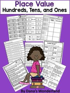 Place Value Worksheet Pack - 37 PLACE VALUE WORKSHEETS WITH DIFFERENT TYPES OF ACTIVITIES (including ASSESSMENT PAGES) This FUN and ENGAGING resource contains place value worksheets that are designed to help students identify the numbers in HUNDREDS, TENS, and ONES place.