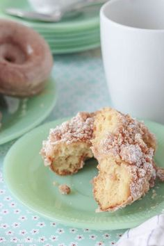 "Homemade Crumb Donuts-  ""Leave the Entenmann's on the shelf, and try these Homemade Baked Sour Cream Donuts instead...you'll never go back to store bought!"""
