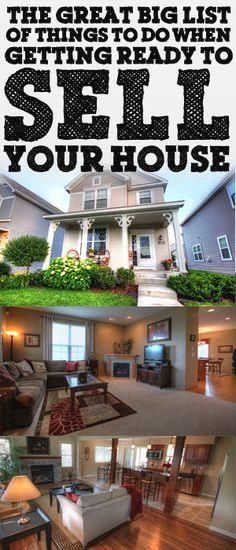 The Great Big List Of Things To Do When Getting Ready To Sell Your House www.biblemoneymat...