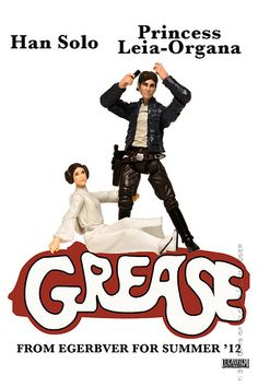 "Grease - Star Wars version --- Click the image to see more ""Iconic Images Redone With 'Star Wars' Action Figures"" via @Masha"