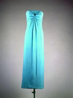 Azure Blue Silk Gown - Oleg Cassini  American, ca. 1960  Worn by Jackie Kennedy