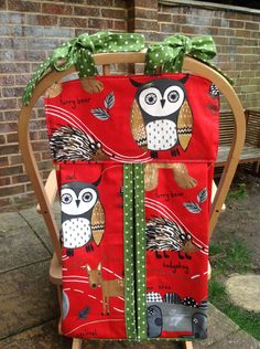 "Handmade nappy/diaper stacker ""woodland"" new by StitchedupByRebecca on Etsy"