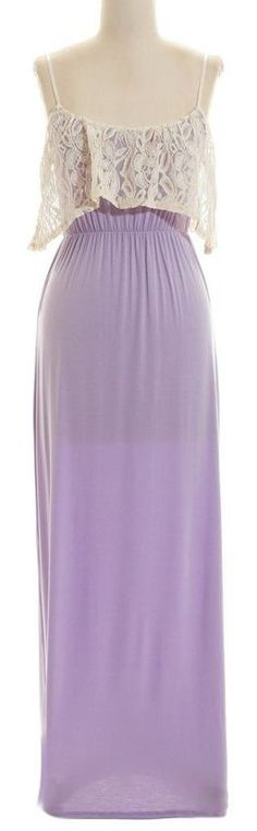 5349176a32a8 Cute maxi dress with lace overlay Cute Maxi Dress