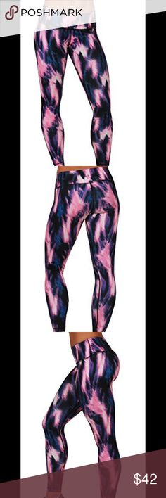 Work out Leggings Brand New with tag Yoga/ work out Leggings. High performance moisture wicking technology will keep you cool and comfortable.  Color: P# 283 Ilumination Pink (pink, blue, black and white) 90 Degree By Reflex Pants Leggings