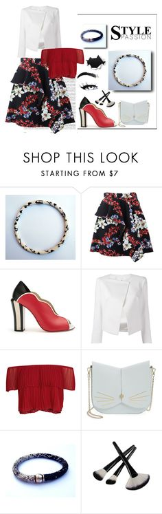 """Black & white #3"" by colchico ❤ liked on Polyvore featuring Oris, MSGM, Fendi, Plein Sud Jeanius, Keepsake the Label and Ted Baker"