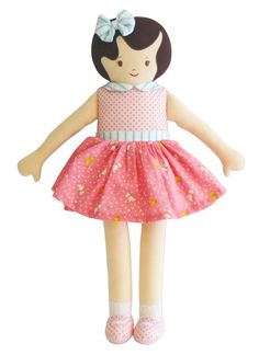 This pretty Violet doll comes in cute blue or pink floral dress. From her style and fashion to her simple smile, this doll makes a great gift and lovely friend Pink Floral Dress, Her Style, Pretty Dresses, Hair Bows, Minnie Mouse, Dolls, Disney Princess, Disney Characters, Lady