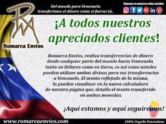 ¡Aquí estamos y aquí seguiremos!  #RomarcaEnvios #TransferenciaDeDinero