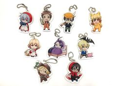 Yet another money-making scheme by the SERVAMP Anime team! :'D *hit* Prize Adores has recently announced another set of game prizes - this time being die-cut acrylic ball chain charms of 9 characters from the series - I suspect this is with regards...