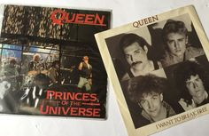Queen Freddie Mercury Princes of the Universe & I Want to Break Free Vinyl 45rpm in Music, Records | eBay!