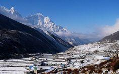 Photo: The village of Dingboche in the Khumbu region, Nepal