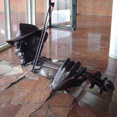 The Violinist Bursting From Floor  -Amsterdam - Netherland.