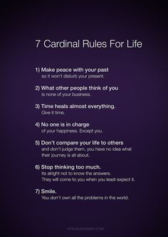 Great rules to live by or at least try to anyway, wholeheartedly. Positively excellent #quote. Love it! Everyone's gotta see this one. So repin plz!