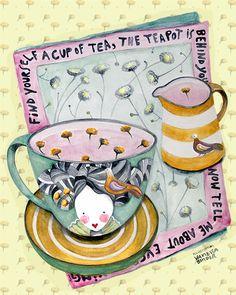 Matilda, The Queen of Tea | Bag The Cat | Illustrations + Pattern Design + Graphic Design
