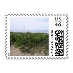 Untouched Beach Postage Stamps