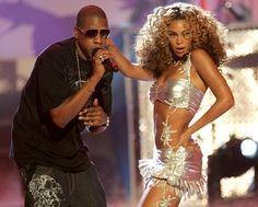 Beyonce performing with Jay Z Deja Vu