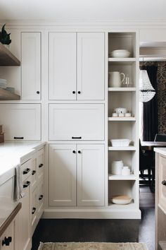 City Loft  by Sherwin Williams on the kitchen cabinets at  #niceandneatclien t  Photo by:  Stoffer Photography Interiors Küchen Design, Home Design, Design Ideas, Kitchen Interior, Kitchen Decor, Kitchen Ideas, Design Kitchen, Dark Kitchen Cabinets, Off White Cabinets