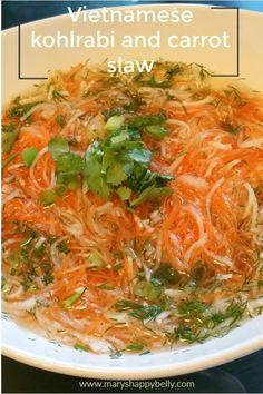 Kohlabi and carrot slaw Pinterest