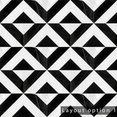 Black Marble Tile, Black And White Tiles, Marble Tiles, Mosaic Tiles, Chevron Patterns, Floor Patterns, Tile Patterns, Black Backsplash, Commercial Flooring