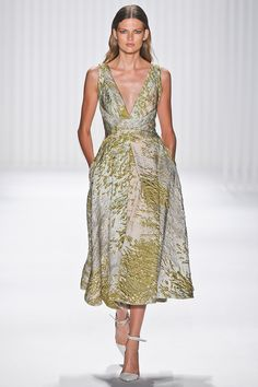 Wonderful color variations in this jacquard daydress from #jmendel -- for the fanciest brunch ever. #nyfw #spring2013