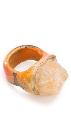 Adina Mills Design Small Elestial Quartz Ring