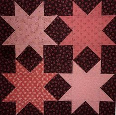 Kathy's Quilts: Saturday Sampler #17 Four Star Square