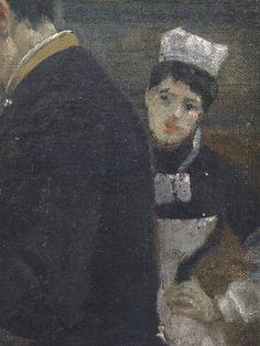 BEROUD Louis,1889 - Le Dôme Central de la Galerie des Machines lors de l'Exposition de 1889 - Detail 11 - Jeune femme en uniforme - Young woman serving -