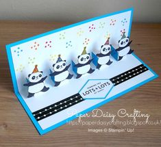 Paper Daisy Crafting: Party Pandas Pop Up card tutorial