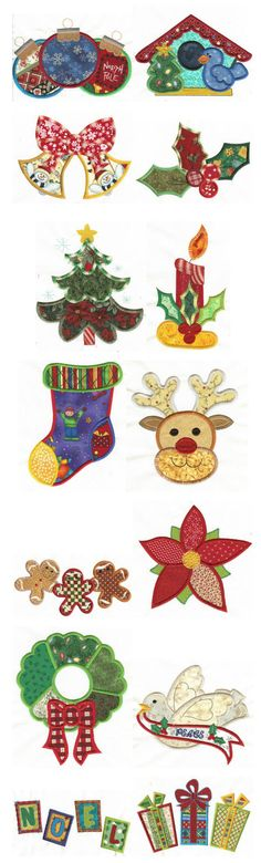 Embroidery | Free Machine Embroidery Designs | Jumbo Patchwork Christmas Applique