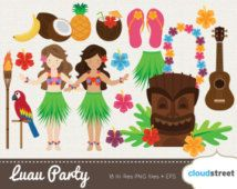 Luau clipart, aloha clipart, luau party, Hawaii clipart, Hula ...