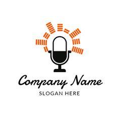 Singing and Microphone Icon logo design Custom Logo Design, Custom Logos, Microphone Icon, Online Logo, Music Logo, Logo Maker, Company Names, Slogan, Singing