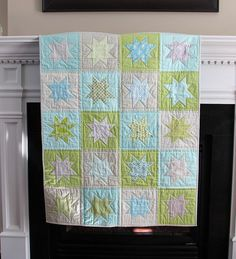 would be such a cute quilt for a baby..