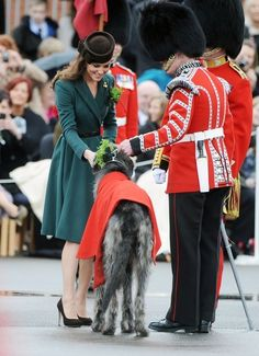 Kate Middleton with an Irish Wolfhound!