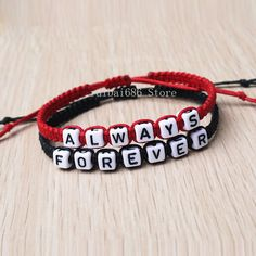 Forever Andever Couples Bracelet His Hers Loves Bracelet Valentine's Day Gift Gifts For Fiance, Presents For Boyfriend, Couple Gifts, Boyfriend Gifts, Cute Friendship Bracelets, Friendship Bracelet Patterns, Love Bracelets, Bracelet Couple, Couple Jewelry