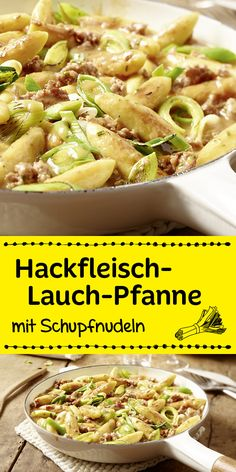 Hackfleisch, Lauch, Schupfnudeln und eine herrliche Würze machen dieses Rezept … Minced meat, leeks, potato noodles and a wonderful spice make this recipe a delicious dinner in just 30 minutes.