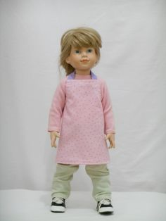 Pink with Purple Dots Doll Apron