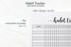 MINI Happy Planner - Habit Tracker