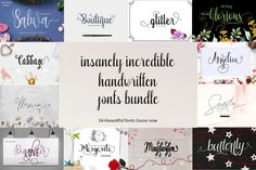Affiliate perk 🙂 I Love Design Bundles and use it all the time:) Did you see this deal? Script Logo, Handwritten Fonts, Typography Fonts, Hand Lettering, Creative Fonts, Cool Fonts, Awesome Fonts, Creative Art, Font Design