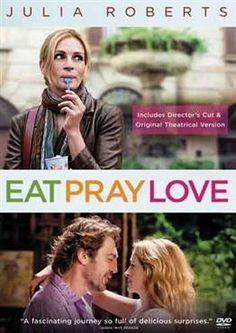 "Eat Pray Love (2010): A married woman realizes how unhappy her marriage really is, and that her life needs to go in a different direction. After a painful divorce, she takes off on a round-the-world journey to ""find herself""."
